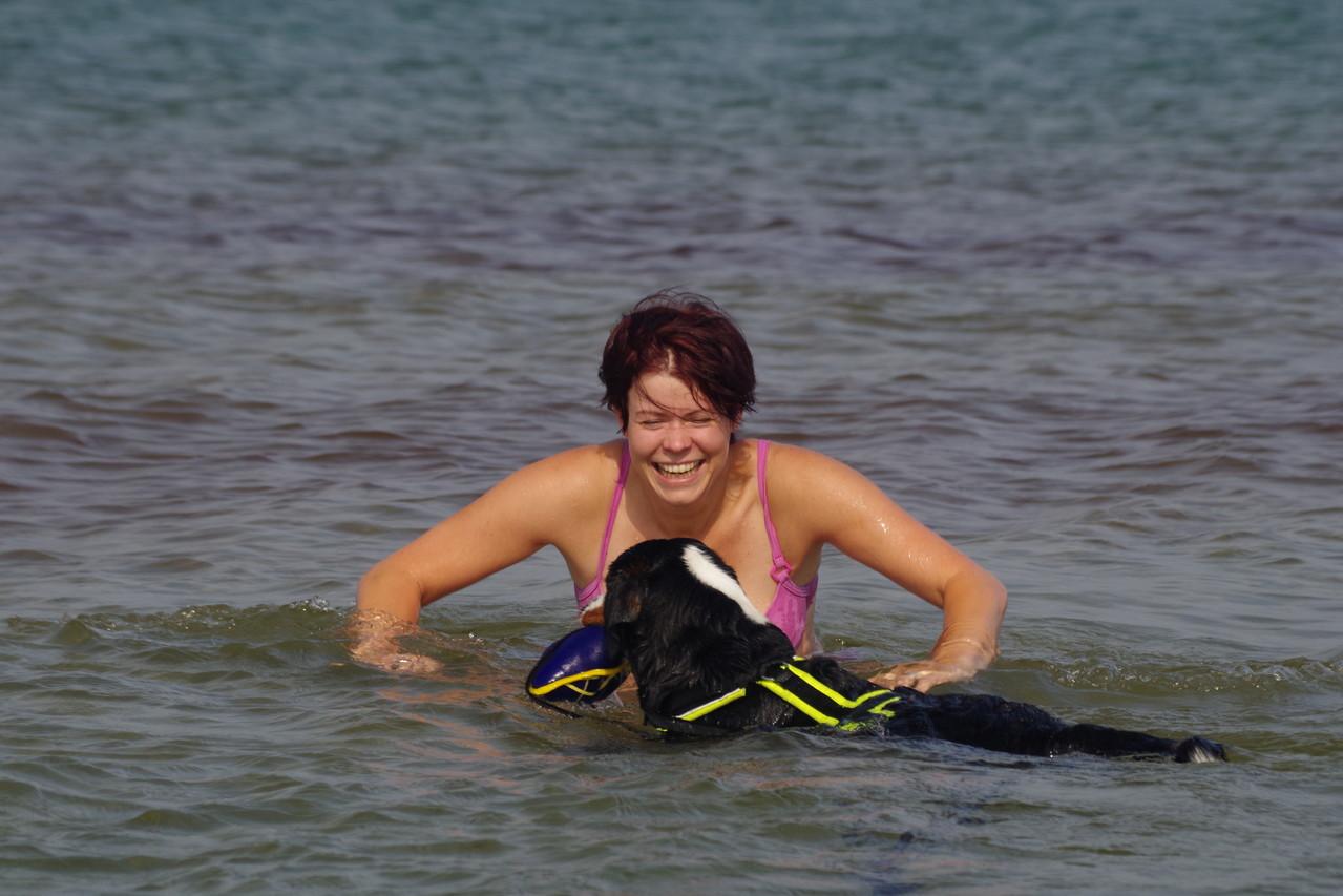Tascha war mit mir schwimmen