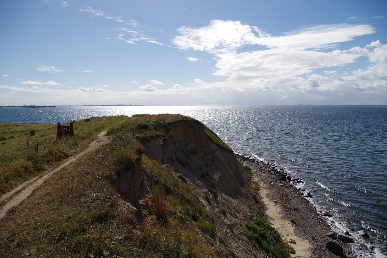 Hier gibt es sogar eine Steilküste
