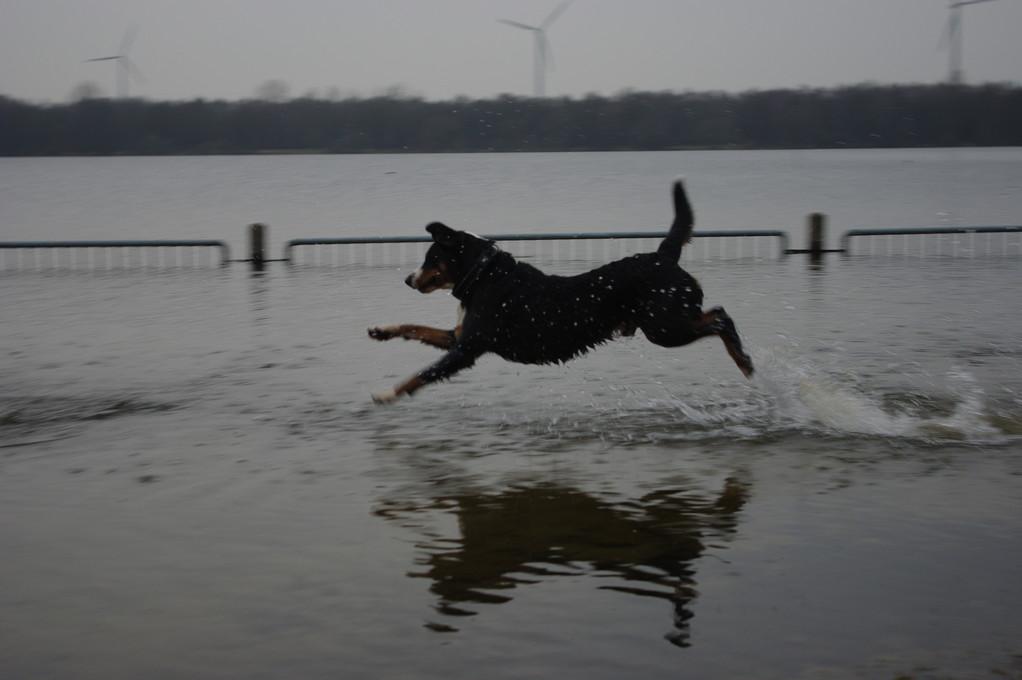 Ich kann über das Wasser laufen ;-)