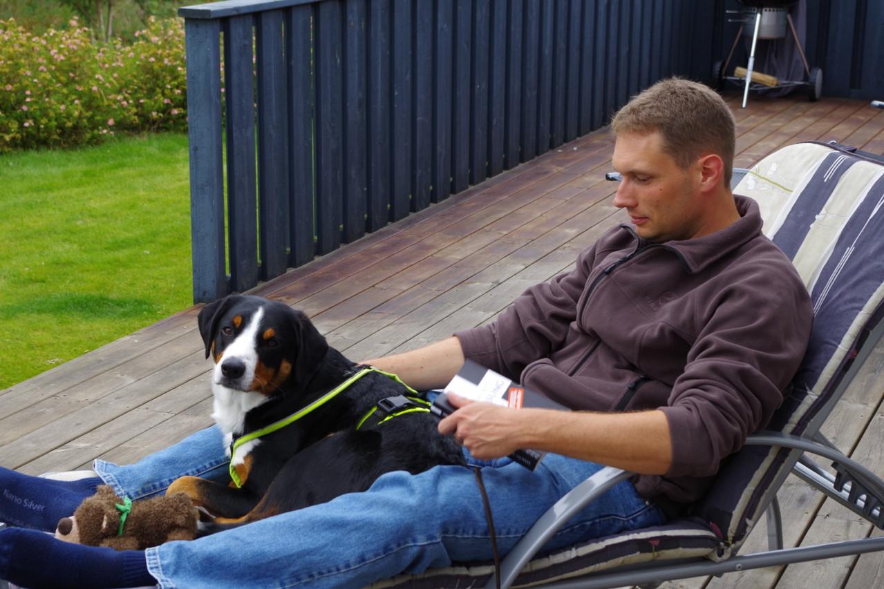 Entspannen auf der Terrasse mit Marc