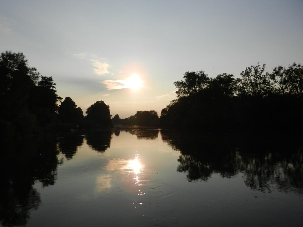 Ein toller Abend Spaziergang im Blockland
