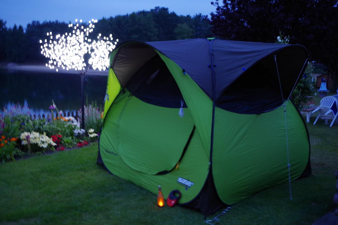 Heute Nacht schlafen Tascha und ich im Zelt :-D
