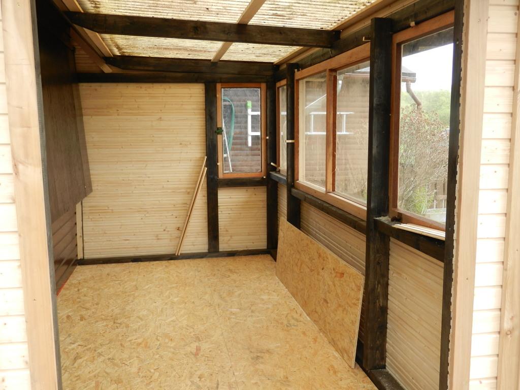 Unsere neue Terrasse von Innen