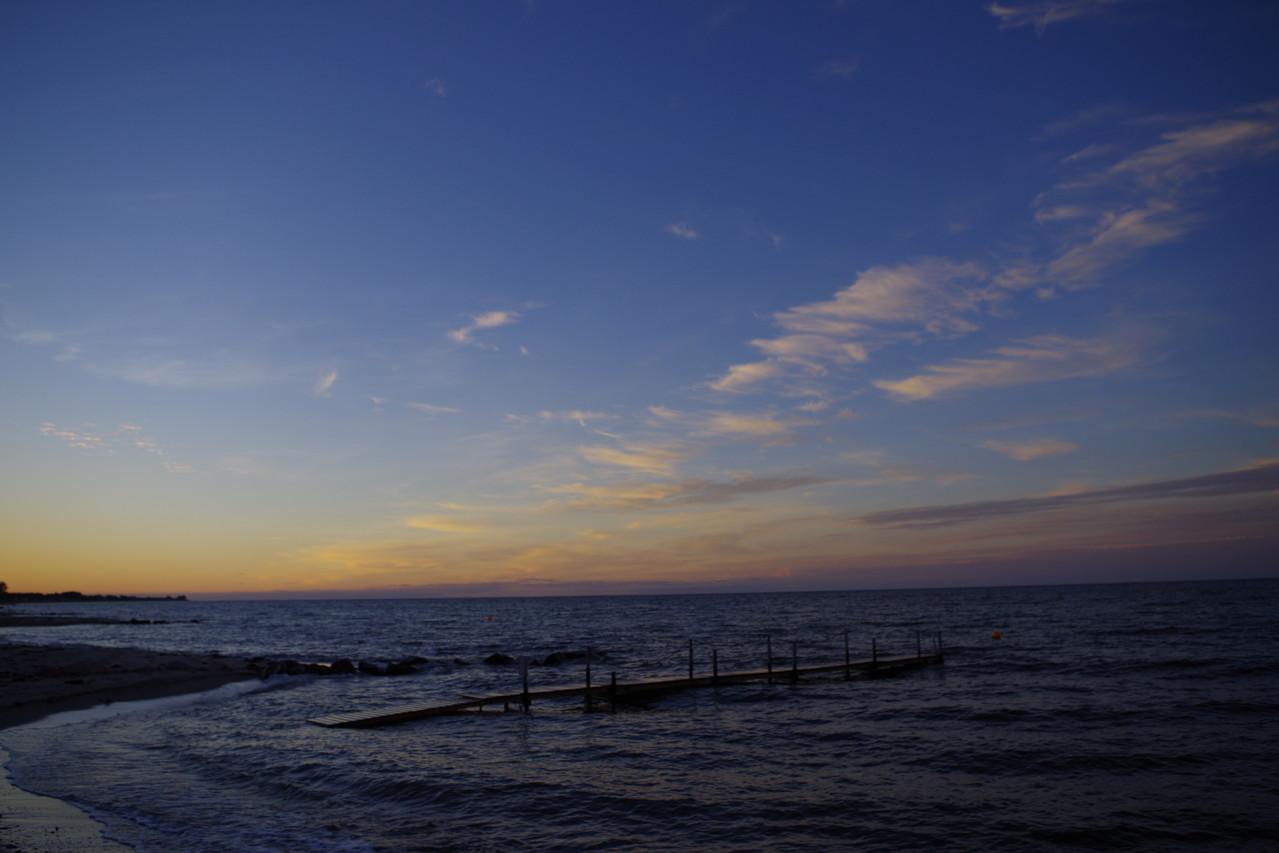 Am Abend wurde noch ein toller Spaziergang am Strand gemacht