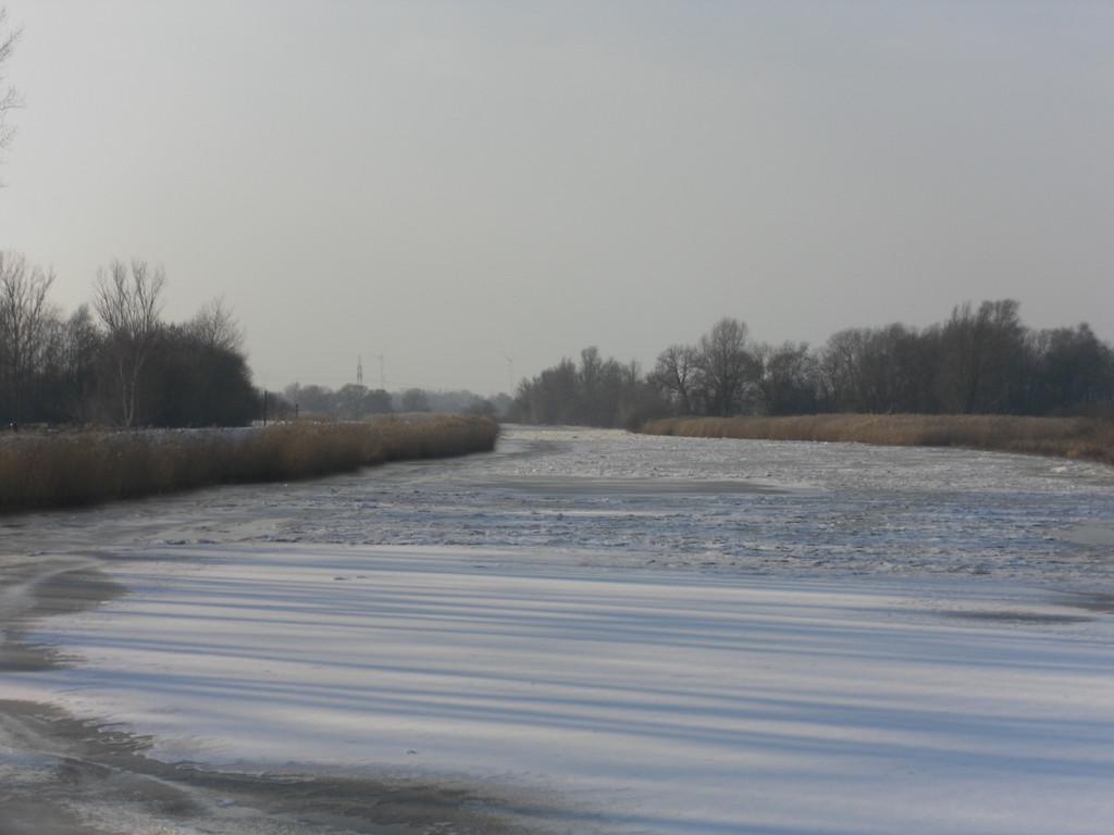 Die Hamme zugefroren