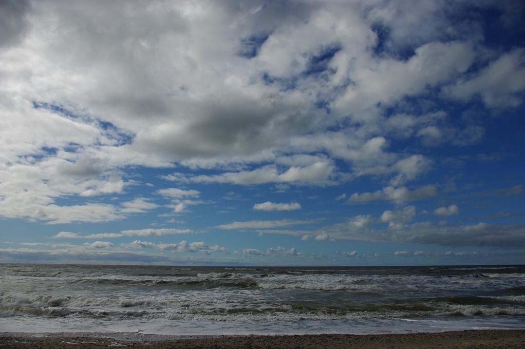 Heute der erste Tag, wo die Wellen nicht so hoch sind