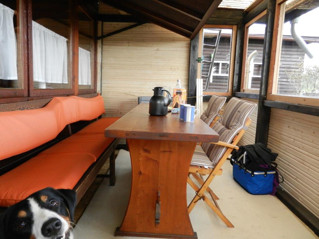 Die Terrasse ist fast fertig....so können wir jetzt noch mehr Zeit hier verbringen