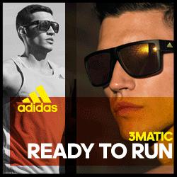 Bild zeigt einen Sportler mit einer adidas Sportbrille. Die Sonnenschutzgläser sind mir 3matic Technologie.
