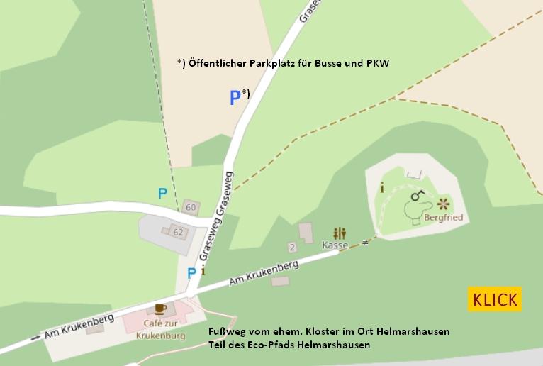 Ausschnitt der OpenMap mit Klick-Link zu Google Maps