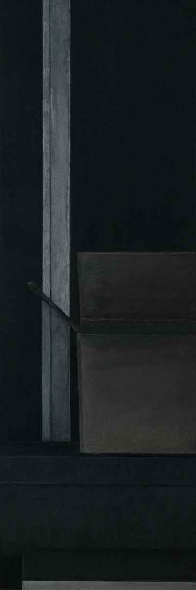 Stillleben mit Silberrahmen 30,0 x 15,0 cm, Acryl u. Polychromos auf MDF, 2018 (in Privatbesitz Krefeld)