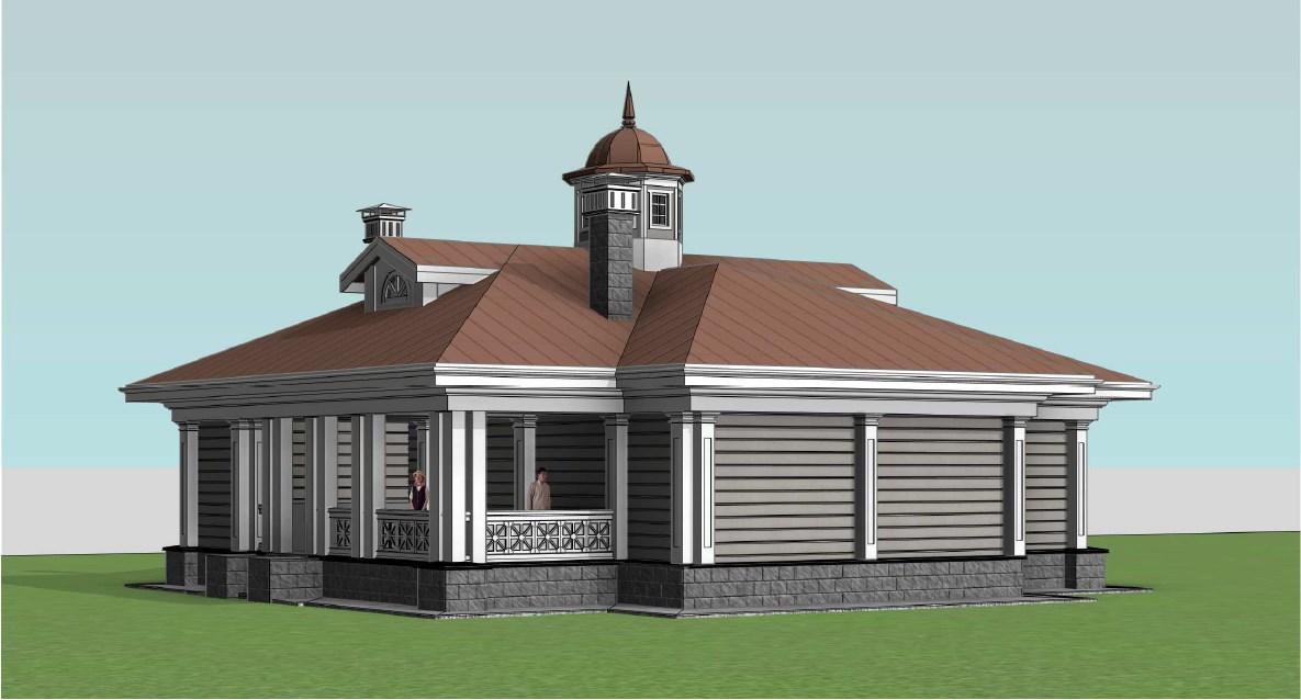 Фасад в стиле классицизм к вариант 1