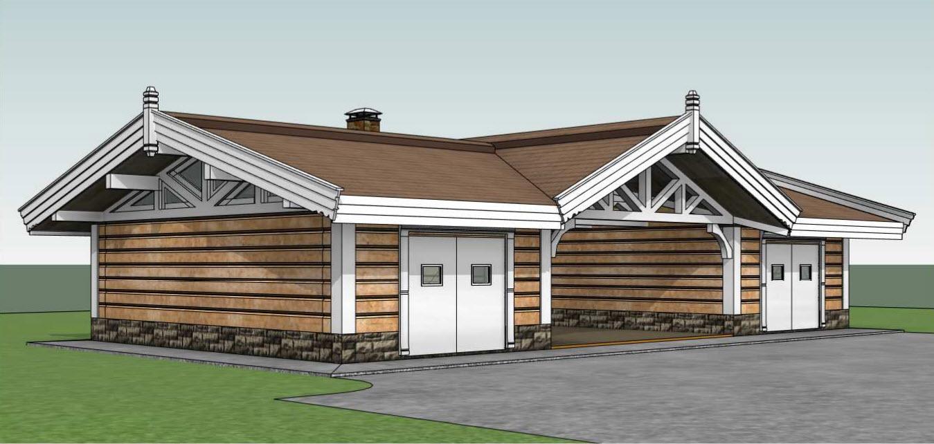 Готовые проект деревянного гаража купить гараж в тольятти гск радуга