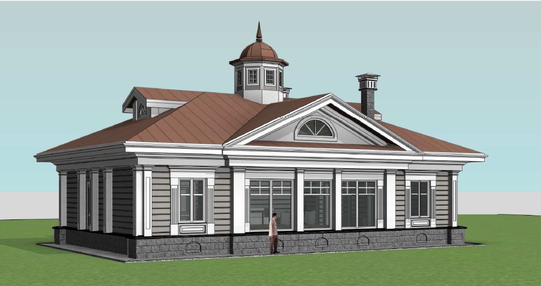 Фасад в стиле классицизм к вариант 1 из лафета