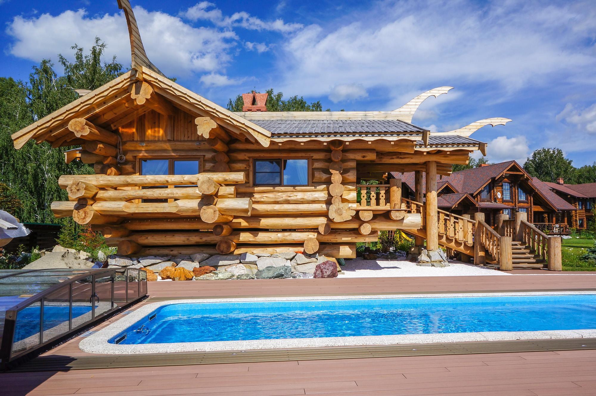 дом из канадского кедра