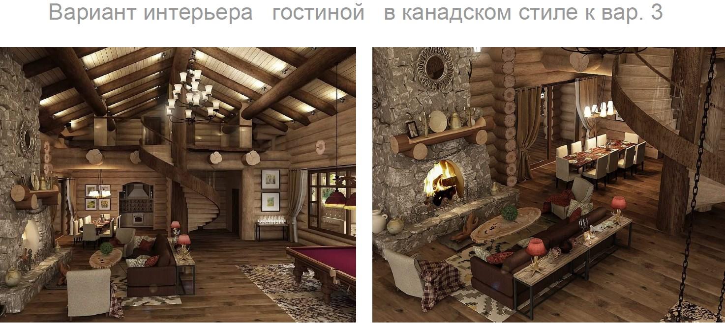 Концепция интерьера гостиной в американском стиле