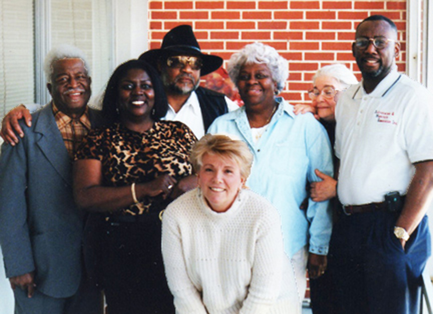 Nellie Mae Rowe family members Joe Brown, Cathi Bates Perry & Roberta Bates with Thunderbolt Patterson, Marianne Lambert, Judith and Thunderbolt's assistant
