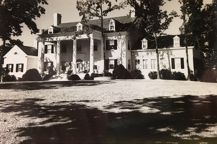 Alexander Family home, Peniel, where Phipps Plaza is today