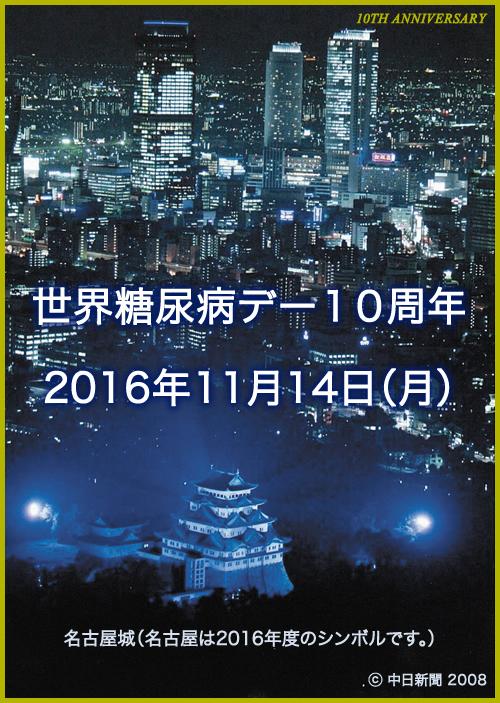 Dia Mundial da Diabete - 14 de novembro - Castelo de Nagoya, Aichi, Japão