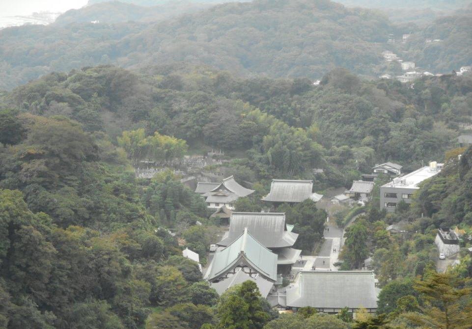 これが上から見た建長寺になります。