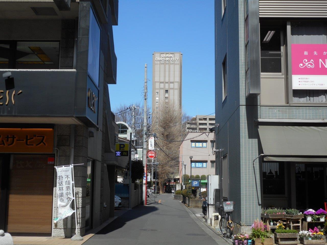 遠くに浦和センチュリーシティが見えます。