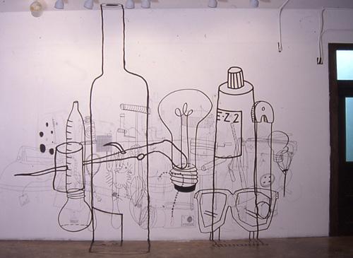 Tools - wall drawing, 2002