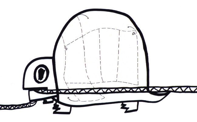 Box Turtle with Diagram of Box, wall drawing, 2003