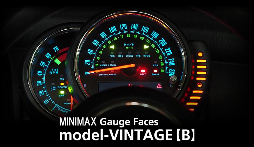 model-VINTAGE(BLUE):STANDARD/mini f56 メーター 内装 パーツ