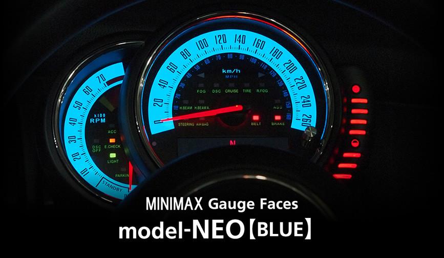 model-NEO(BLUE)/mini f56 メーター 内装 パーツ