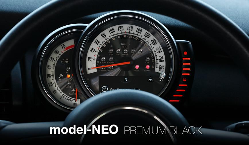 model-NEOプレミアムブラック:F56/55 MINI用 メーター 内装 パーツ