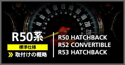R50系(R50/R52/R53)標準仕様:ゲージ取付け概略