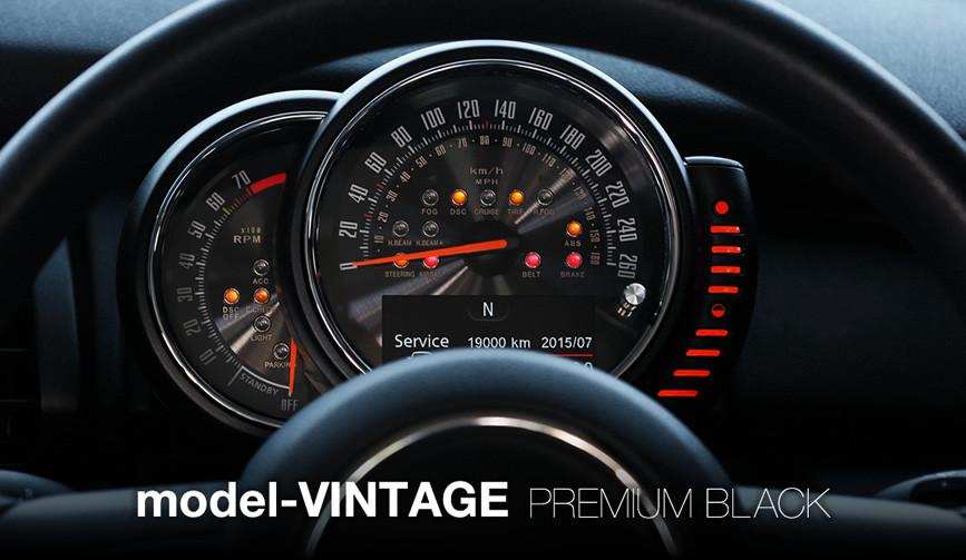 model-VINTAGE PREMIUM BLACK:F56/55 MINI用 メーター 内装 パーツ