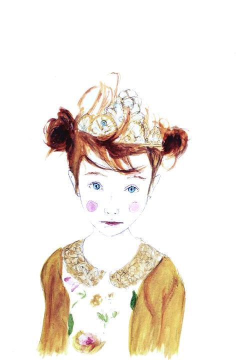 Portrait aquarelle Carole Paillé