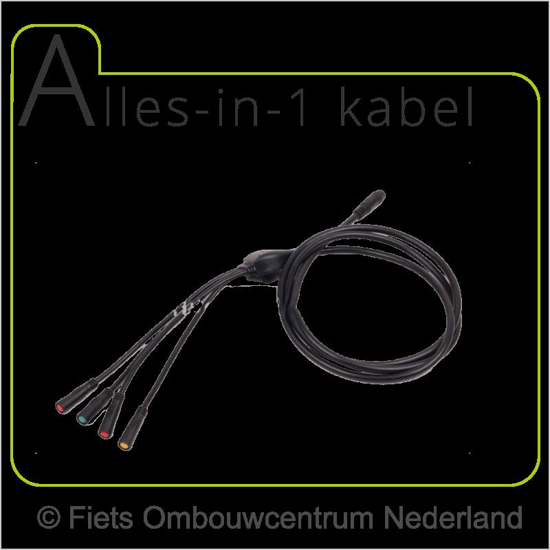 FON voorwielmotor ombouwset elektrische fiets alles in 1 kabel1