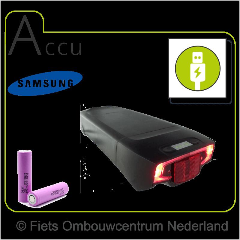 FON smartphone ombouwset elektrische fiets accu2
