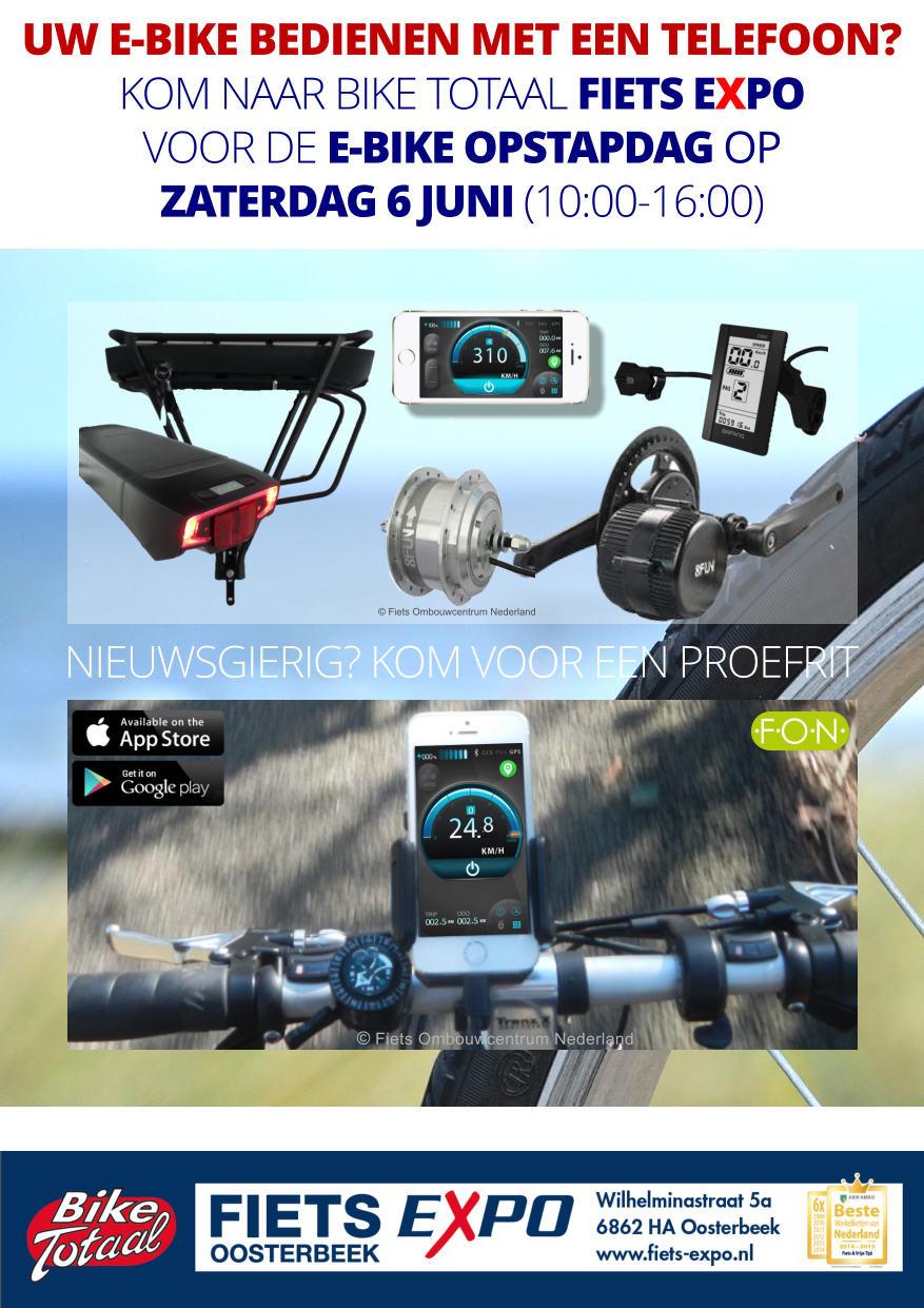 Opstandig bij Bike Totaal Fiets Expo in Oosterbeek