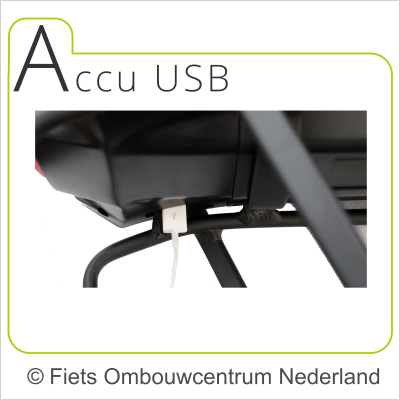 ON smartphone ombouwset elektrische fiets accu USB