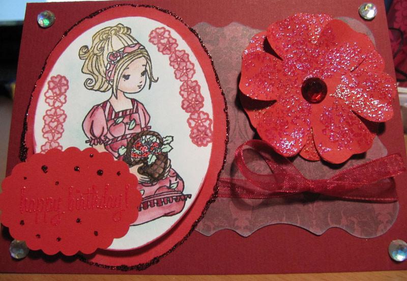 Willow mit Erdbeerkorb - Stempel von Whiff of Joy