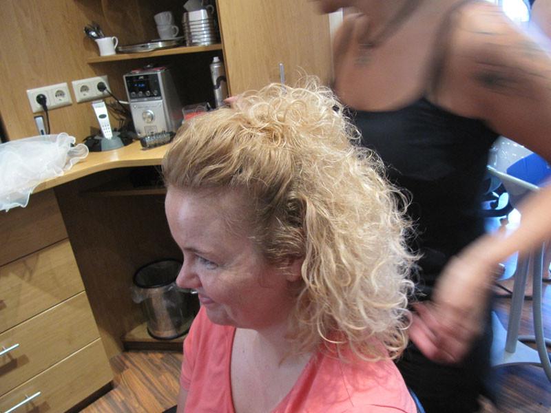 Der Morgen beim Friseur