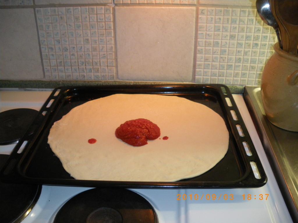 tomate triturado o salsa de tomate