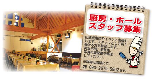 セーナーニ 本須賀 ゲストハウス レストラン 貸切 スタッフ募集