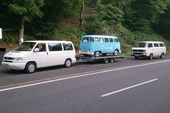 Drei VW Bus Epochen auf einen Blick
