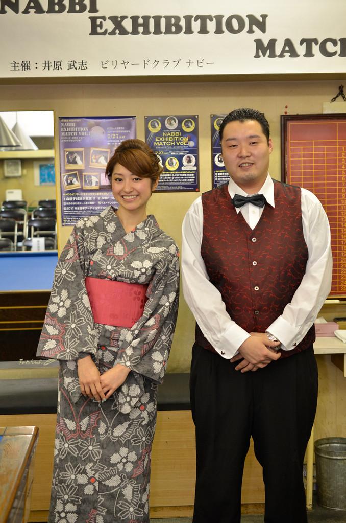 MC江辺香織(JPBAプロ)&イベントプロデューサー渡辺元