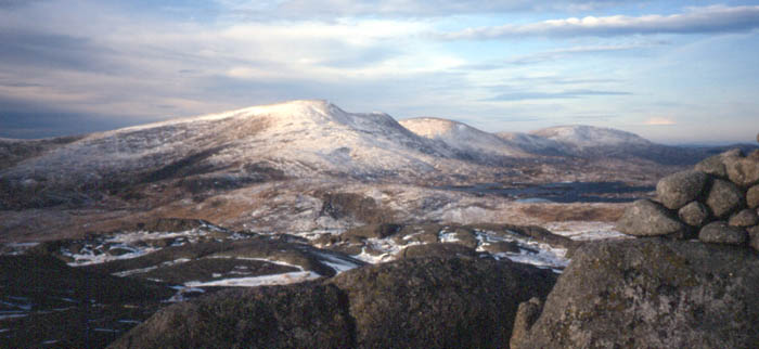 Mount MERRICK in the southern highlands of Scotland in Dumfries and Galloway