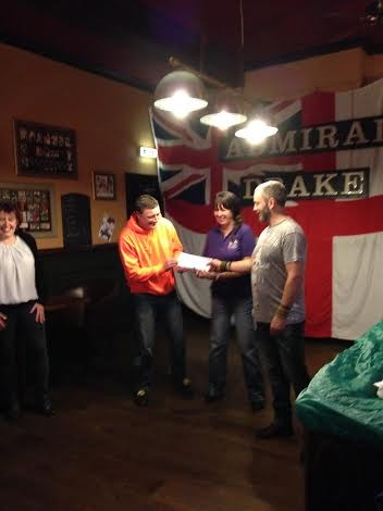 Admiral Drake pub makes a donation to Sam's Haven