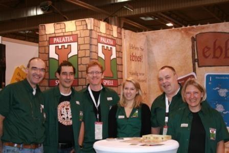 PALATIA-SPIELE-Team (Unser Sales-Manager fehlte leider wegen eines wichtigen Geschäftstermins...