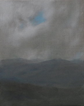 Hinte 3, Öl/Leinwand, 30 x 24 cm, 2019