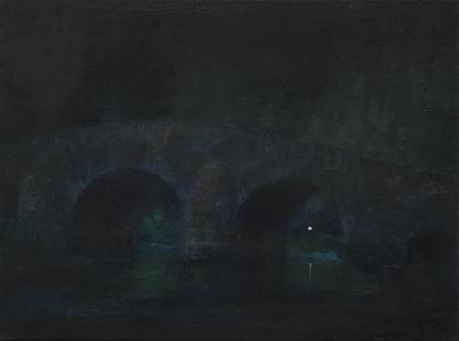 Brücke, Öl/Leinwand, 40 x 30 cm, 2017
