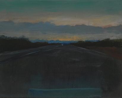 Autobahn, Öl/Leinwand, 40 x 30 cm, 2017