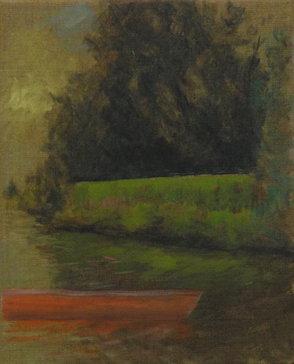 Hinte 2, Öl/Leinwand, 30 x 24 cm, 2019
