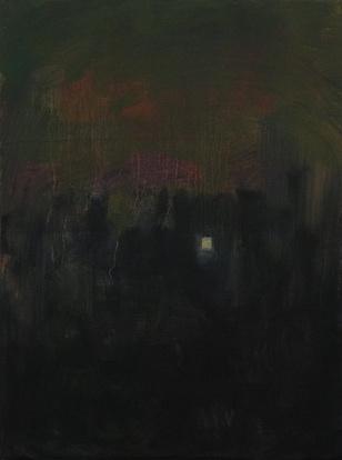 Nacht, Öl/Leinwand, 40 x 30 cm, 2017